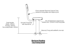Backrest Seating Top Fixing Detail