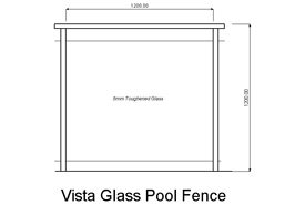 Vista Glass Pool Fence (code: PFVG)