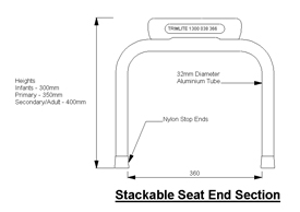 Stackable Seat End Section